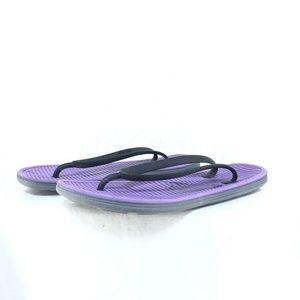 B50 Nike Womens Solarsoft Thong Sandal sz 9 Purple